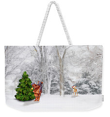 Oh Christmas Tree Weekender Tote Bag by Mary Timman
