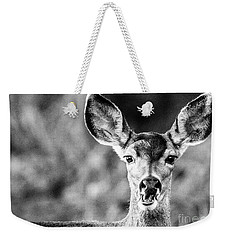 Oh, Deer, Black And White Weekender Tote Bag