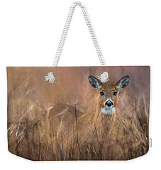 Weekender Tote Bag featuring the photograph Oh Deer by Robin-lee Vieira