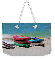 Weekender Tote Bag featuring the photograph Oh The Beach Life by Michiale Schneider