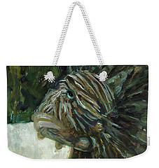 Weekender Tote Bag featuring the painting Oh The Troubles I've Seen by Billie Colson