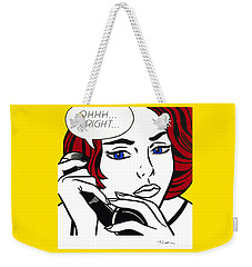 Ohhh...alright Weekender Tote Bag by Roy Lichtenstein