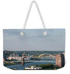 Ohio River's Suspension Bridge Weekender Tote Bag