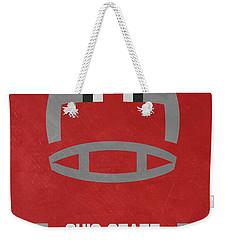 Ohio State Buckeyes Vintage Football Art Weekender Tote Bag