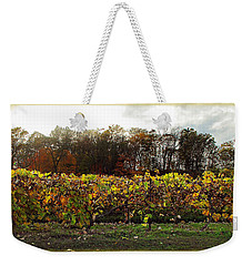 Weekender Tote Bag featuring the photograph Ohio Winery In Autumn by Joan  Minchak