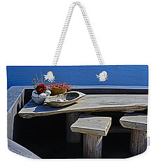 Oia Still Life On The Greek Island Of Thira Weekender Tote Bag