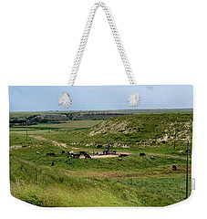 Oil And Cattle Weekender Tote Bag by Keith Stokes