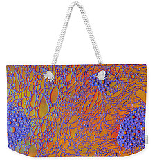 Oil And Water Grape Design Weekender Tote Bag by Bruce Pritchett