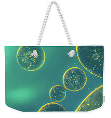 Weekender Tote Bag featuring the photograph Oil And Water by The 3 Cats