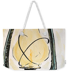 Weekender Tote Bag featuring the painting Oil Lamp by Maria Langgle