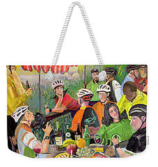 Oil- Luncheon Of The Cycling Party Weekender Tote Bag