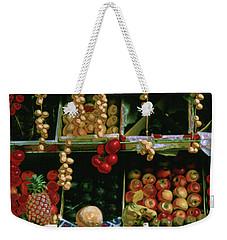 Oil Painted Faux Paris Fruit Display Weekender Tote Bag
