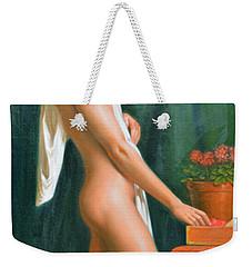 Original Oil Painting Male Nude Boy Man On Canvas#16-2-5-16 Weekender Tote Bag