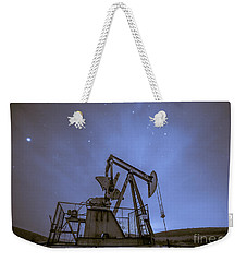 Oil Rig And Stars Weekender Tote Bag