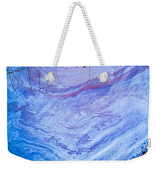 Oil Spill On Water Abstract Weekender Tote Bag