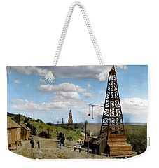 Weekender Tote Bag featuring the photograph Oil Well by Granger