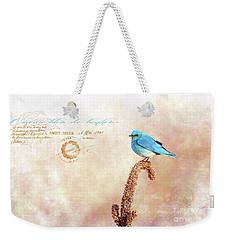 Oiseau Bleu De Bonheur Weekender Tote Bag by Beve Brown-Clark Photography