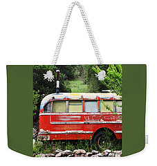 Okey Dokey Pipe And Smokey Weekender Tote Bag by Natalie Ortiz