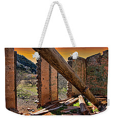 Ol' Building In Desert's Winter Warmth Weekender Tote Bag by Charles Ables
