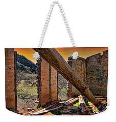 Ol' Building In Desert's Winter Warmth Weekender Tote Bag