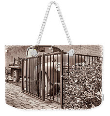 Ol' Chevy Castrated Weekender Tote Bag by Charles Ables