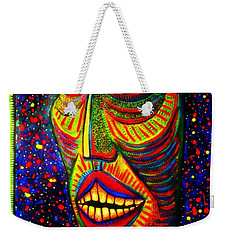Ol' Funny Face Weekender Tote Bag by Kelly Awad