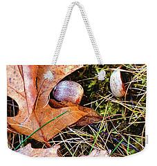 Old Acorns And Leaves Weekender Tote Bag