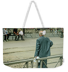 Old, Alone, With Dignity Weekender Tote Bag