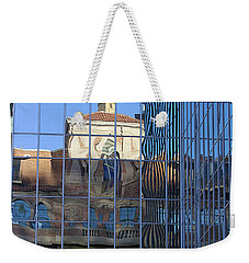 Weekender Tote Bag featuring the photograph Old And New Patterns by Phyllis Denton