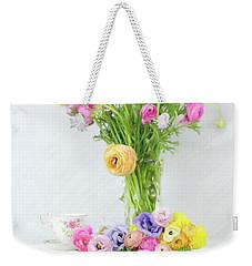 Old And New Ranunculus Weekender Tote Bag