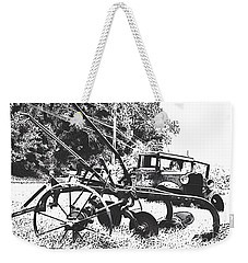 Old And Rusty In Black White Weekender Tote Bag by MaryLee Parker