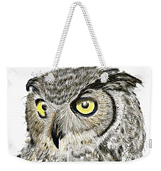 Weekender Tote Bag featuring the digital art Old And Wise by Darren Cannell