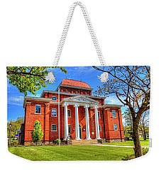 Old Ashe Courthouse Weekender Tote Bag by Dale R Carlson