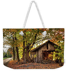 Old Autumn Shed Weekender Tote Bag