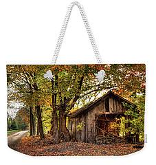 Old Autumn Shed Weekender Tote Bag