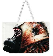 Old Baboon Animal Art Drawing Weekender Tote Bag