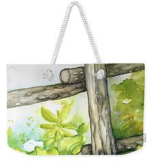 Old Backyard Fence Weekender Tote Bag by Inese Poga