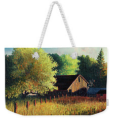 Old Barn At Sunrise Weekender Tote Bag