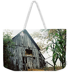 Old Barn In The Morning Mist Weekender Tote Bag