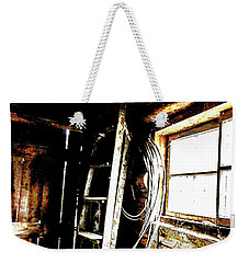 Old Barn Ladder Weekender Tote Bag by Deborah Nakano