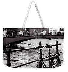 Old Bicycle In Central Stockholm Weekender Tote Bag