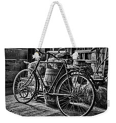 Weekender Tote Bag featuring the photograph Old Bicycle by Stuart Litoff