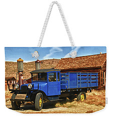 Old Blue 1927 Dodge Truck Bodie State Park Weekender Tote Bag by James Hammond
