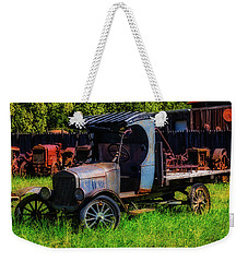 Old Blue Ford Truck Weekender Tote Bag by Garry Gay