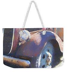 Old Blue Wheel Weekender Tote Bag