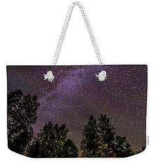 Old Boat Under The Stars Weekender Tote Bag