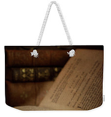 Old Book With Key Weekender Tote Bag