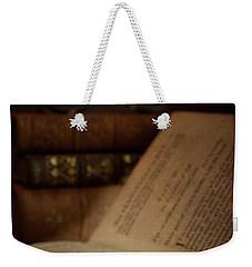 Old Book With Key Weekender Tote Bag