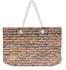 Weekender Tote Bag featuring the photograph Old Brick Wall by Jingjits Photography