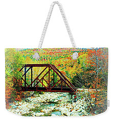 Old Bridge - New Hampshire Fall Foliage Weekender Tote Bag by Joseph Hendrix